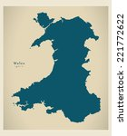 modern map   wales uk | Shutterstock .eps vector #221772622