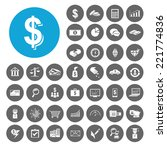 investment icons set.... | Shutterstock .eps vector #221774836