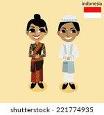 cartoon asean indonesia | Shutterstock .eps vector #221774935