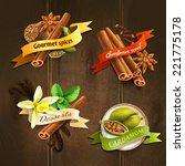 dessert gourmet spices cardamom ...   Shutterstock .eps vector #221775178