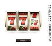 game gamble casino slot machine ... | Shutterstock .eps vector #221775412