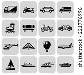 transport black icons set with... | Shutterstock .eps vector #221776996