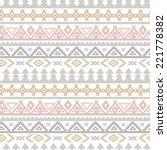 tribal art ethnic seamless...   Shutterstock . vector #221778382