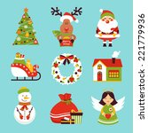 christmas new year holiday... | Shutterstock .eps vector #221779936