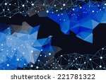 abstract mesh background with... | Shutterstock .eps vector #221781322