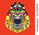 gorilla head design in...   Shutterstock .eps vector #221782936