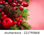 christmas decorations on the... | Shutterstock . vector #221790868