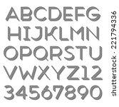 handmade sans serif font. thin...   Shutterstock . vector #221794336