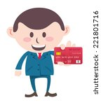 manager showing credit card | Shutterstock .eps vector #221801716