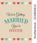 wedding invitation card  ... | Shutterstock .eps vector #221803612