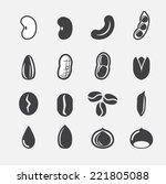 nut and seed icon | Shutterstock .eps vector #221805088