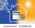 heating and cooling air... | Shutterstock . vector #221806156
