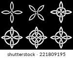 celtic four cornered ...   Shutterstock .eps vector #221809195