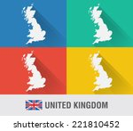 uk england world map in flat...