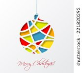 christmas card template with... | Shutterstock .eps vector #221820292