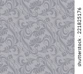 gray antique baroque vintage... | Shutterstock . vector #221825176