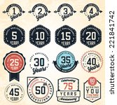 anniversary badges and labels... | Shutterstock .eps vector #221841742