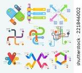 infographics  business chart... | Shutterstock .eps vector #221846002