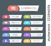 vector flat web buttons
