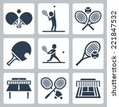court tennis table tennis and... | Shutterstock .eps vector #221847532