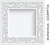 abstract square lace frame with ... | Shutterstock .eps vector #221849716