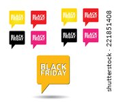 black friday sales tag on white.... | Shutterstock .eps vector #221851408