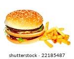 hamburger and potato | Shutterstock . vector #22185487