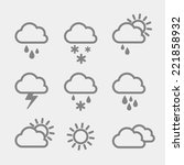 set of weather icons.  | Shutterstock .eps vector #221858932
