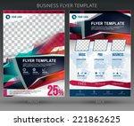 abstract vector business flyer... | Shutterstock .eps vector #221862625