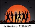 party  halloween | Shutterstock .eps vector #221864332