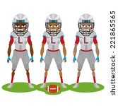 three football players with...   Shutterstock .eps vector #221865565