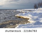 ice builds on the edge of a... | Shutterstock . vector #22186783