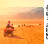 motorcycle safari egypt people... | Shutterstock . vector #221868862