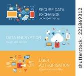online internet security... | Shutterstock .eps vector #221869312