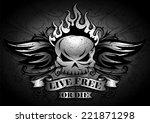 live free or die   tribal  ... | Shutterstock .eps vector #221871298