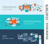 web design programming seo... | Shutterstock .eps vector #221873878