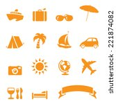 holiday travel icons. no... | Shutterstock .eps vector #221874082