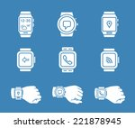smartwatch icons. vector...   Shutterstock .eps vector #221878945