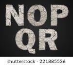 stone letters set. vector... | Shutterstock .eps vector #221885536