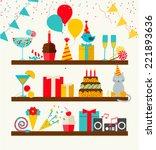 Happy Birthday Icons Set ...