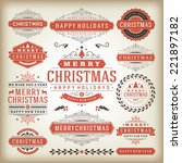 christmas decoration vector... | Shutterstock .eps vector #221897182