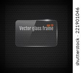 Vector Glass Frame Background...