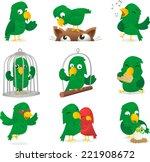 cartoon parrot collection... | Shutterstock .eps vector #221908672