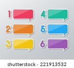 set of blank colorful paper... | Shutterstock .eps vector #221913532