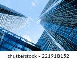 windows of skyscraper business... | Shutterstock . vector #221918152