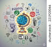 hand drawn education icons set... | Shutterstock .eps vector #221920066