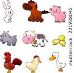 Nine Cartoon Farm Animals Like...
