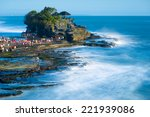 tanah lot is a rock formation... | Shutterstock . vector #221939086