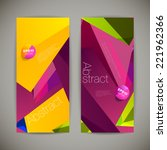 set of polygonal geometric... | Shutterstock .eps vector #221962366
