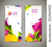 set of polygonal geometric... | Shutterstock .eps vector #221962402